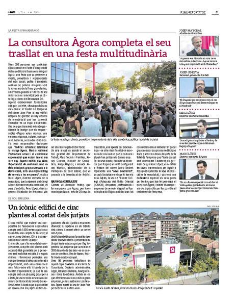 Inauguració de l'Edifici Àgora, Granollers